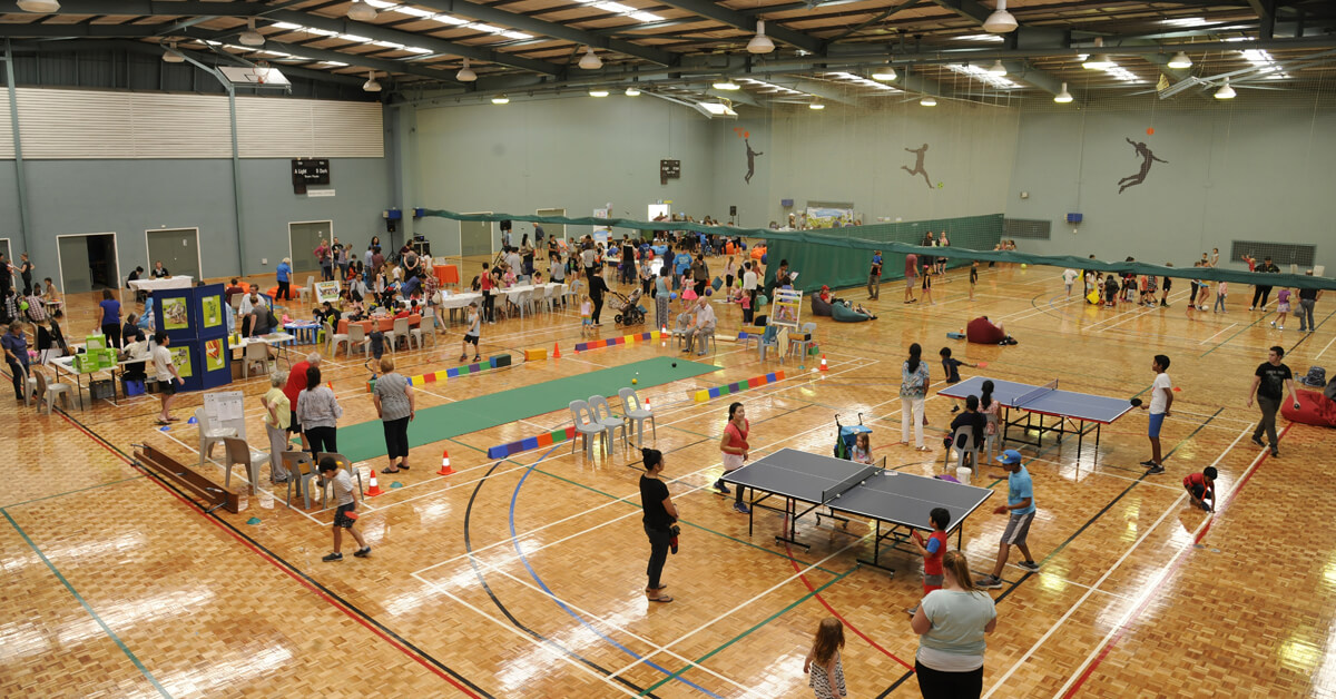 View of the various activities held in 2018 during the Have a Go Hartfield event.
